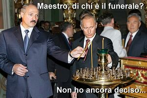 Lukashenko e Putin ad un funerale.jpg