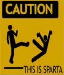Cartello Attenzione questa è Sparta.jpg