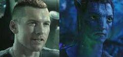 Avatar. Jake Sully umano e Avatar.jpg