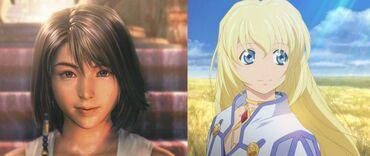 Cavolo, questi due personaggi sono proprio identici! Cioé...HANNO ENTRAMBE UN MENTO, ecco...