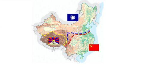 30 maggio 1927: la guerra non è ancora iniziata, ma iniziano a farsi sentire delle tensioni interne. I comunisti tentano di corrompere l'arbitro prima della guerra, mentre Chiang Kai Shek, a capo dell'esercito Nazionalista, investe tutto il denaro in costosissime baionette a pile. L'Unione Sovietica accoglie la richiesta di aiuto del Partito Comunista Cinese e rifornisce ordinariamente le armate di Mao Zedong con armi potenti e di livello bellico molto avanzato come Kalašnikov, mitragliatori e uova di storione. Il Tibet sta lì nonostante non sia stato invitato alla guerra.