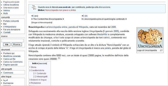 Pagina neutrale di Nonciclopedia su Wikipedia.JPG