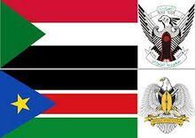 Sudan le due bandiere.jpg