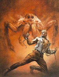 Ragno gigante e eroe con le catene spezzate.jpg