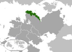 Meriad's location.