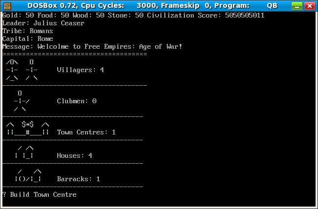 QBasic - Free Empires: Age of War