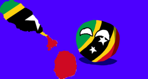 Saint Kitts and Nevisball with flag map.png