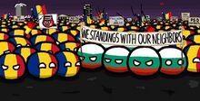 Bulgaria helps Romania in protest.jpg
