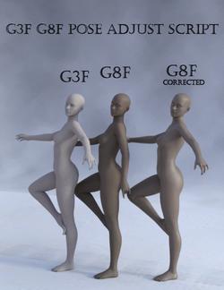 G3 G8 Pose Adjust Scripts - Poser and Daz Studio Free