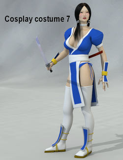 Cosplay costume 7 for V4 and A4 - Poser and Daz Studio Free