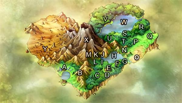 Heartflame Island Map
