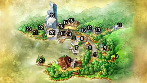 Volcano Town Map