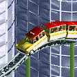 Yellow Taxi Coaster RCT2 Icon.png