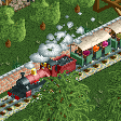 Steam Trains with Covered Cars RCT2 Icon.png