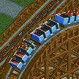 Wooden Roller Coaster (6 seater, Reversed) RCT2 Icon.png