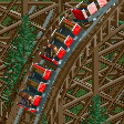Wooden Roller Coaster (6 seater) RCT2 Icon.png