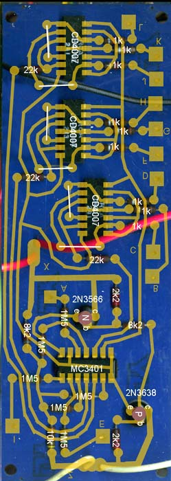 Overlay and PCB pattern