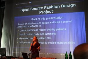 Susan Spencer, Call for Open Source Fashion Design Tools, Libre Graphics Meeting, Brussels, 2010