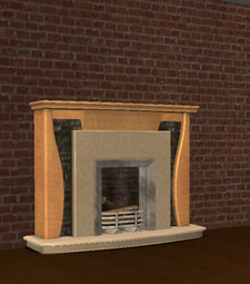 Ts2 gentrific way of the wood mantel fireplace.png