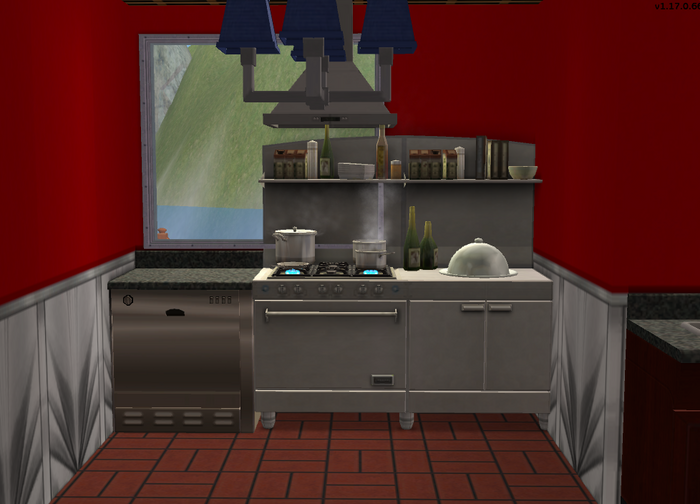 Amar's Restaurant kitchen looking towards stove.png