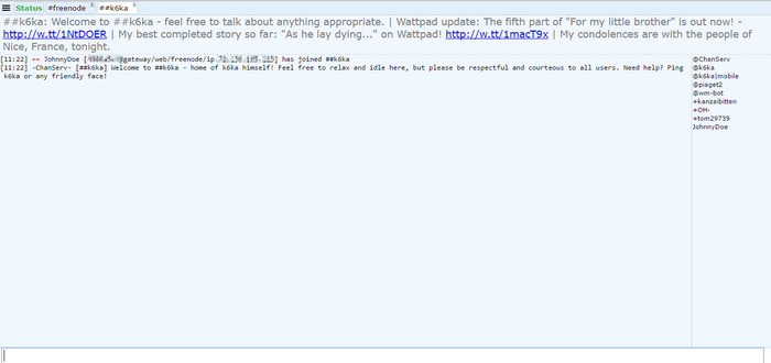 Freenode IRC webchat k6ka channel just joined.png