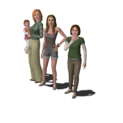 Single Moms Household Family (The Sims 3).png