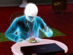 A ghost sim eating ambrosia.jpg