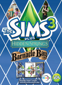 The Sims 3 Plus Hidden Springs and Barnacle Bay Cover.png
