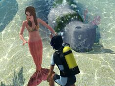 Diver are talking with a Mermaid....jpg
