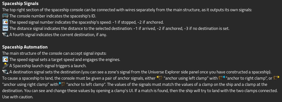 Guide to spaceship signals