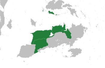 Location of Great Morstaybishlia (dark green)
