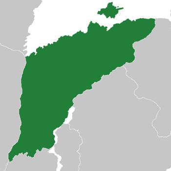 Location of Duominzu (dark green)