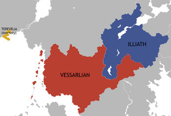 A map of Country makeup of Vessarlian.