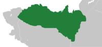 Location of Atlae (dark green)