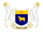 The coat of arms of Asilica: azure on a chief or a symbol of Reformist Thaerism azure a ram rampant or