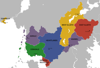 A map of Vessarlian and its regions.