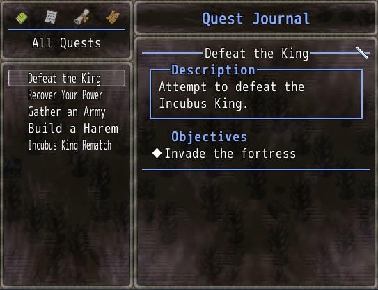 Prologue Quest Journal entries