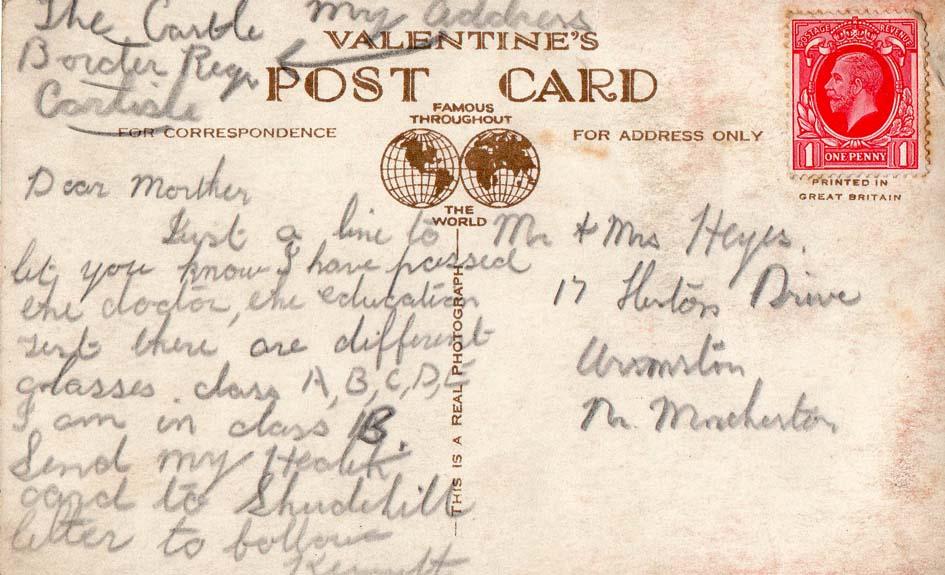 Carlisle Castle 1930 postcard (rear).jpg