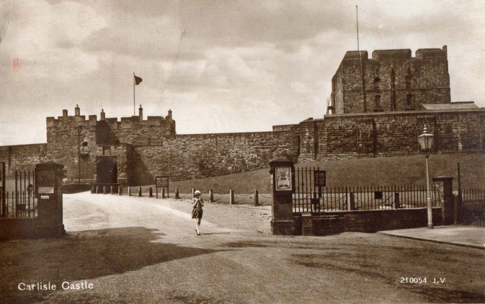 Carlisle Castle 1930 postcard (front).jpg