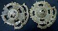 Victorian Border Regiment Collar Badges with 11 Battle Honours.jpg