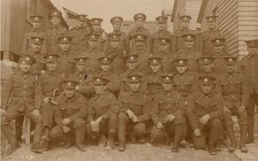 8th Battalion men at Codford near Salisbury Plain, Wiltshire.
