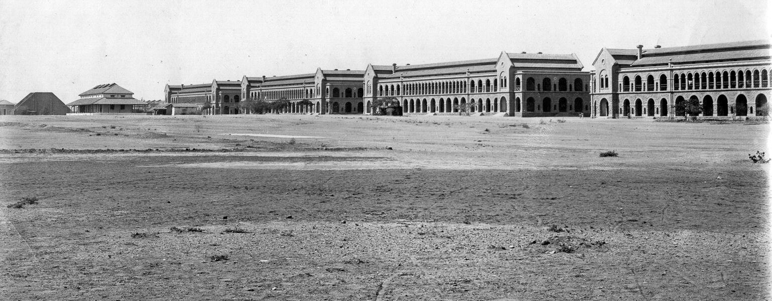Karachi barracks in 1920, 1st Border Regiment stationed here.jpg