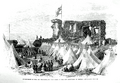 3rd Westmorland Volunteers camp in Kendal castle ruins 1865.png