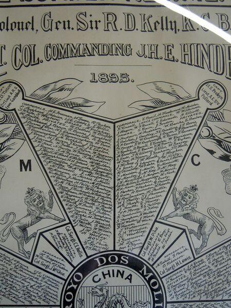 1st Battalion Muster Roll 1895, Kendal Museum (02).jpg