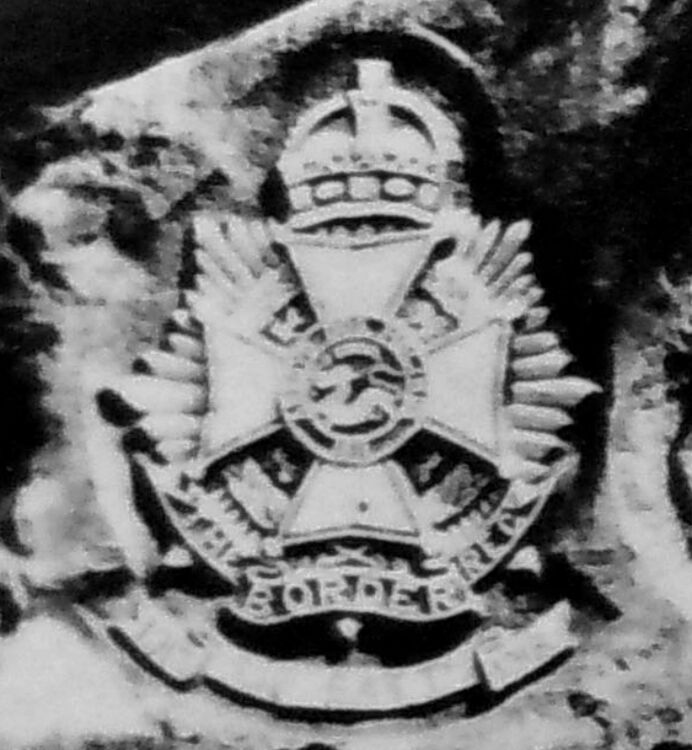Regimental crests carved into the rocks in the Cherat Hills (Cropped).jpg