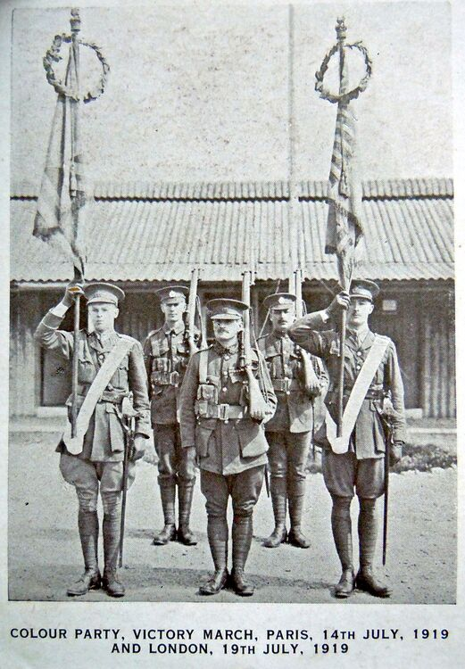 Victory March 1919 Colour Party.jpg