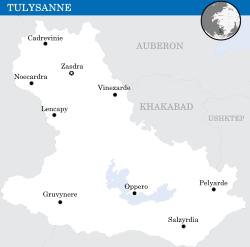 Mapa Tulysanne