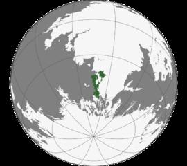 Localização Ushktëp