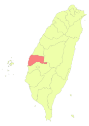 Taiwan ROC political division map Yunlin County.png