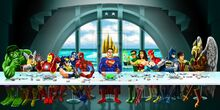 Superhero last supper by luismhernandez-d5cbter.jpg